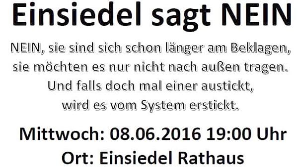Flyer / Aushang Zur Demo gegen die Asylpolitik, nicht gegen die EAE Einsiedel