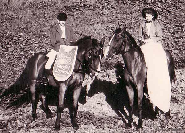 Reklamereiter Parkfest Einsiedel 1957