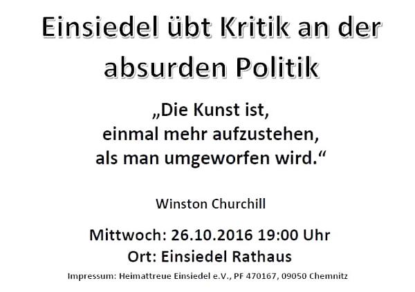 Flyer Demo Einsiedel 26.10.16