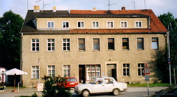 August 1999, kurz vor dem Abriss. Hier entsteht EDEKA Einsiedel.