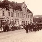 Feuerwehrumzug Einsiedel 1930er Jahre.