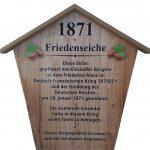 Friedenseiche 1871 in Einsiedel