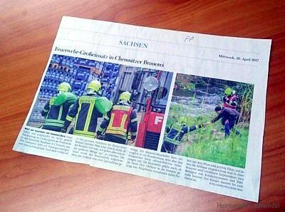 Freie Presse: Salpetersäure in der Brauerei Einsiedel ausgelaufen