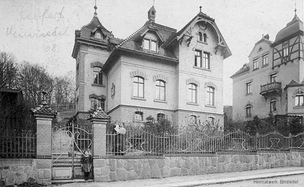 Villa des Einsiedler Baumeisters Johannes Seifert um 1908.