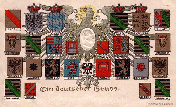 Die deutschen Bundesstaaten 1871.