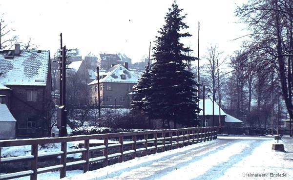 Einsiedel Winter in den 1950er Jahren.