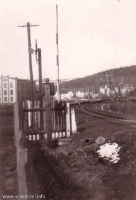 Bahnübergang Schrebergartenweg Einsiedel vor 1945