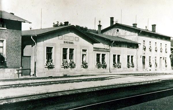 Bahnhof Einsiedel vor der Zerstörung 1945