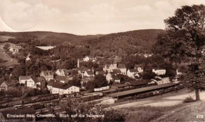 Postkarte Bahnhof Einsiedel 1934