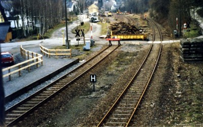 Behelfsbahnsteig aus Stellwerk 1