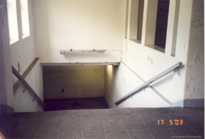 Ehemaliger Tunneleingang im Bahnhof Einsiedel