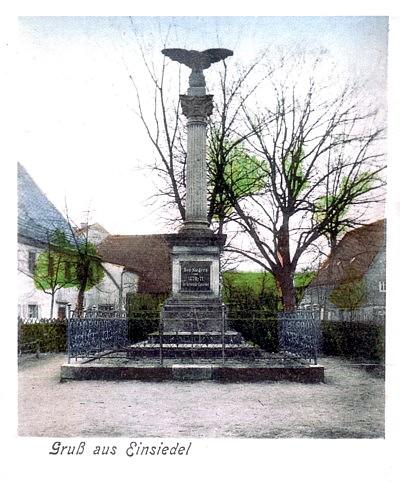 Kriegerdenkmal Einsiedel Lithografie