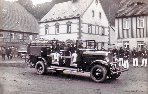 Feuerwehr Einsiedel auf dem Plan. Die 1930er Jahre.