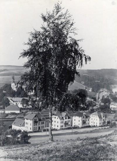 Blick vom Knorrberg Richtung Kirche 1910