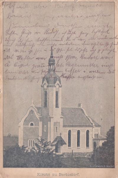 Berbisdorfer Kirche 1905