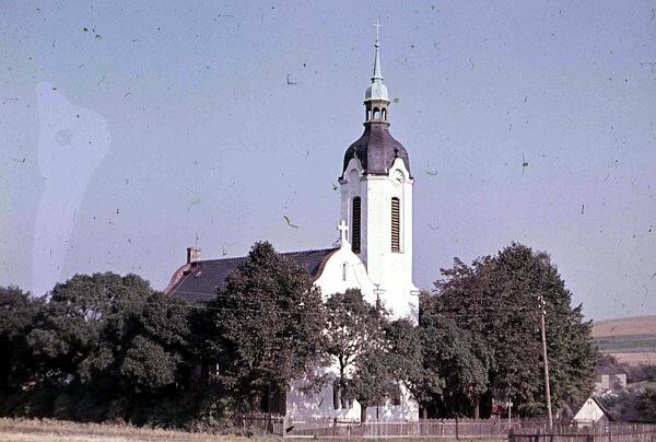 Die Kirche Berbisdorf in den 1950er Jahren