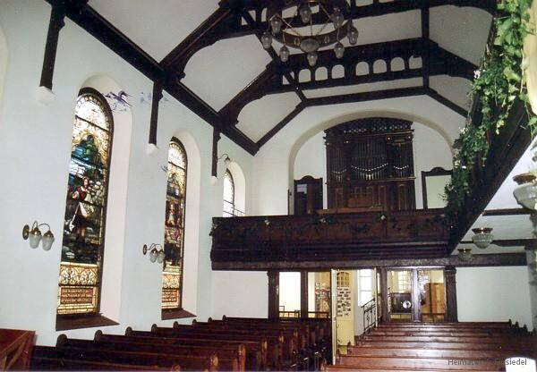Orgel in der Berbisdorfer Kirche