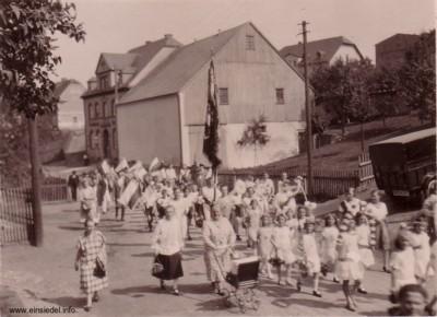 Scheune am Berbisdorfer Keglerheim um 1930