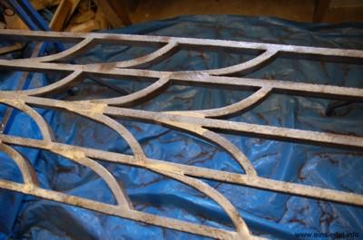 Sandgestrahlter Rahmen