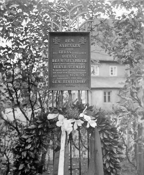 Sedantafel Berbisdorf um 1935.
