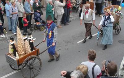 750 Jahre Einsiedel Festumzug Schaubild Glöß/Göthel
