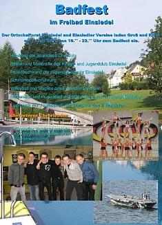 Plakat Badfest Einsiedel 2012