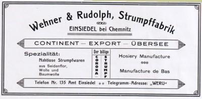 WeRu-Reklame 1924