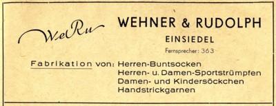 Werbeanzeige WeRu Einsiedel 1955