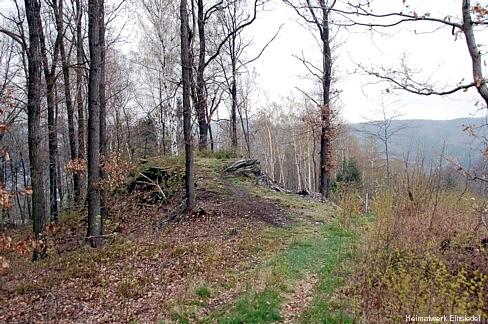 Zugang zur Einsiedler Körnerhöhe 2008