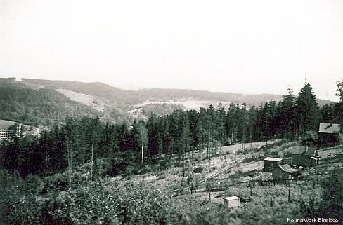 Holzbocksiedlung im Eibischbusch Einsiedel