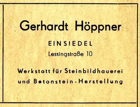 Gerhard Höppner Werbung 1955