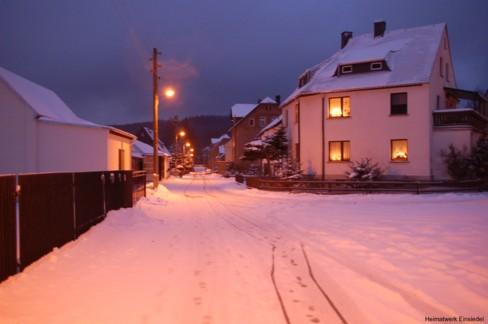Winteridylle am Fabrikweg Einsiedel 2005