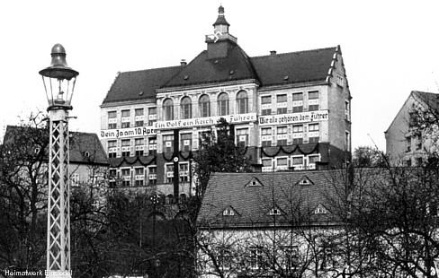"""Werbung für den """"Österreich-Anschluss"""" 1938 an den Einsiedler Schulen"""