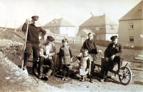 Häuslebauer in der Einsiedler Siedlung