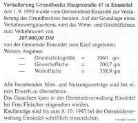 Verkaufsofferte Hauptstr. 47 in Einsiedel 1993