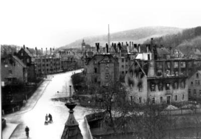 Ruinen in Einsiedel 1945
