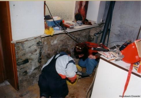 Totalmodernisierung Friseursalon Andrea Hamar, Einsiedel, 1996