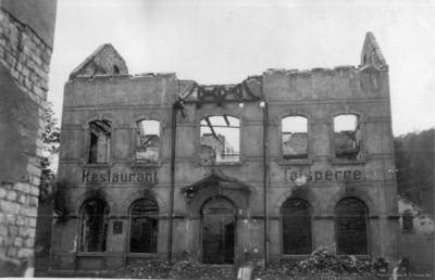 Ruine des Restaurant zur Talsperre in Einsiedel um 1946