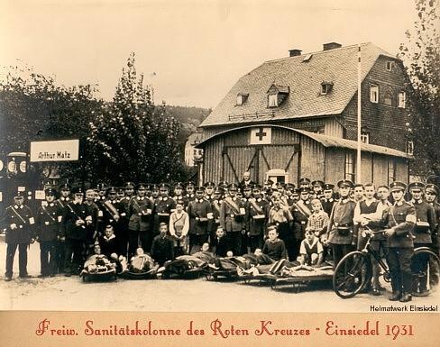 Freiwillige Sanitätskolonne des Roten Kreuzes Einsiedel 1931