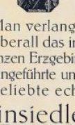 Reklame 1925 der Radeberger Exportbierbrauerei NL Einsiedel