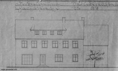 Bauzeichnung für das neue Wohnhaus Hauptstr. 87 in Einsiedel 1947