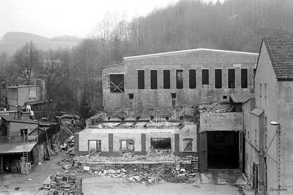 Bauarbeiten im Einsiedler Brauhaus (volkseigen) 1975