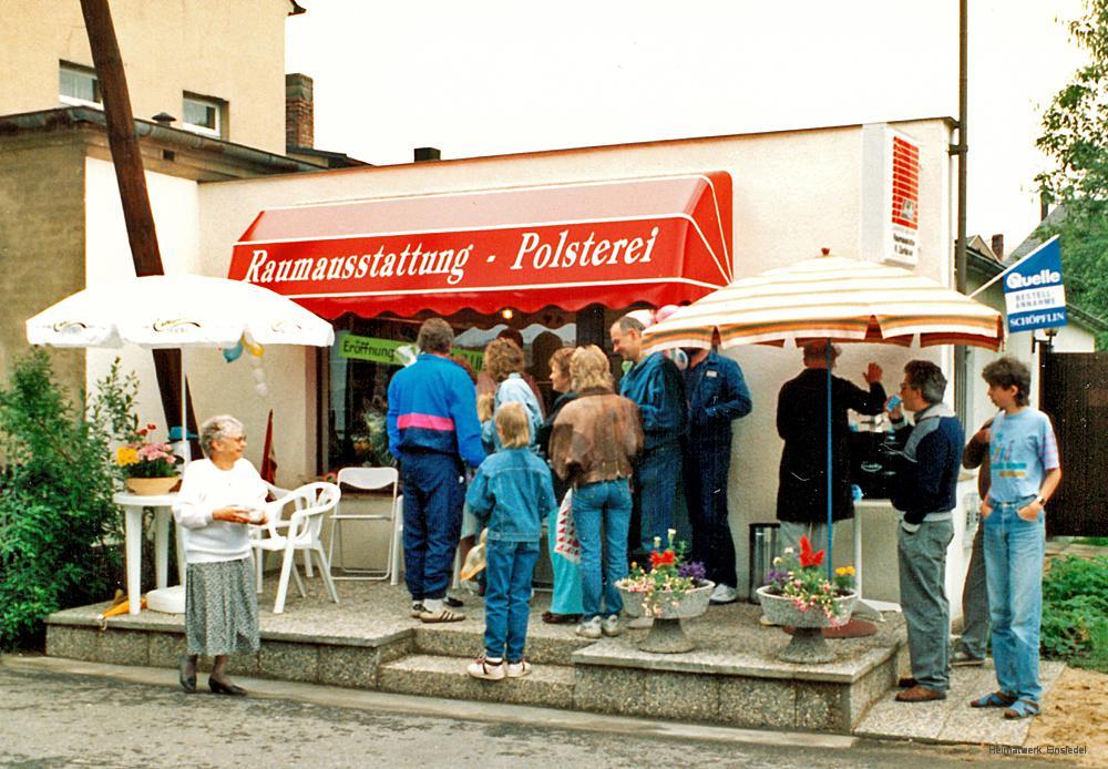 Eröffnung Laden Raumaustattung Zschäckel in Einsiedel 1991