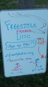 Freestyle Frisbee Sign