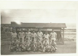 ALT:Dick Keenan and Navy baseball team, Marshall Islands
