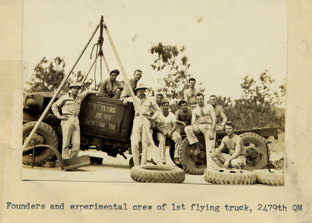 "Founders and experimental crew of ""Flying Joe-Ron"" air transportable truck"