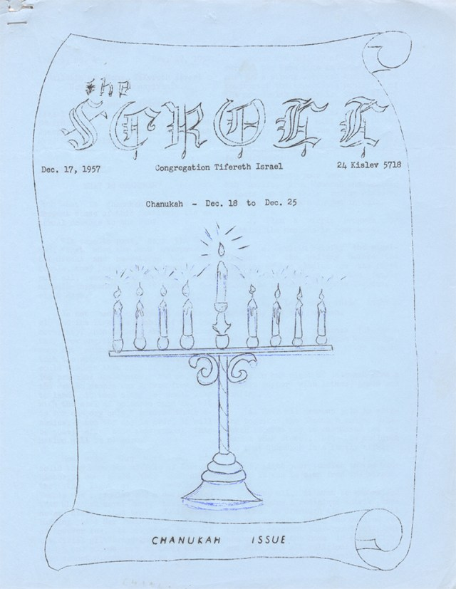 New Castle's Congregation Tifereth Israel offered a primer of its own in its 1957 Hanukkah newsletter.