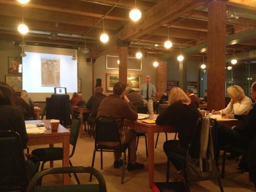 Joseph Bathanti teaching his Italian American Memoir Writing workshop. | Heinz History Center blog