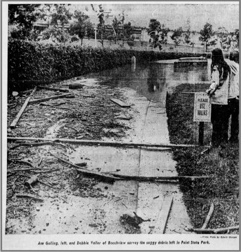 Flooding at Point State Park, June 25, 1972.