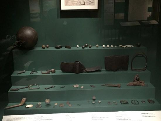 Thomas Dunbar artifacts at the Fort Pitt Museum